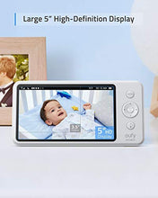 Load image into Gallery viewer, Baby Monitor,  Security Spaceview S Video Monitor, Peace of Mind for New Moms, 5 inch LCD Display, 110° Wide-Angle Lens Included, 720p HD, Lullaby Mode, Night Vision, Day-Long Battery, Crib Mount
