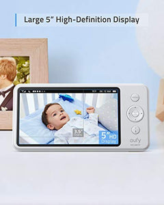Baby Monitor,  Security Spaceview S Video Monitor, Peace of Mind for New Moms, 5 inch LCD Display, 110° Wide-Angle Lens Included, 720p HD, Lullaby Mode, Night Vision, Day-Long Battery, Crib Mount