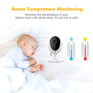 "Video Baby Monitor with Two Cameras and 4.3"" LCD,Auto Night Vision,Two-Way Talkback,Temperature Detection,Power Saving/Vox,Zoom in,Support Multi Camera"
