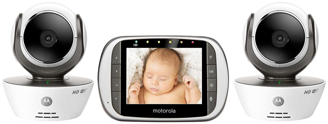 MBP853CONNECT-2 Dual Mode Baby Monitor with 2 Cameras and 3.5-Inch LCD Parent Monitor and Wi-Fi Internet Viewing