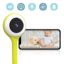 Load image into Gallery viewer, Baby Camera with True Crying Detection (Turquoise) Smart baby monitor with camera and audio with two way talk back. An ideal gift for baby shower. Comes with Infrared Night Vision.
