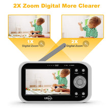Load image into Gallery viewer, Video Baby Monitor with 2 Digital Cameras, Wireless Video Monitor,4.3 inches LCD,Automatic Night Vision,Two-WayTalkback,Temperature Detection,Power Saving,Zoom in Lens,Support Multi-Camera
