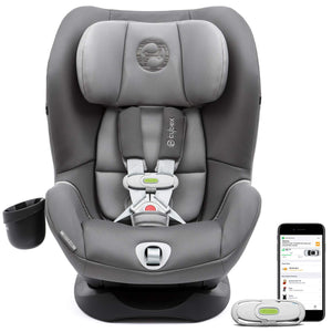 Sirona M with SensorSafe Convertible Car Seat, 5-Point Harness Chest Clip with Built-in Sensor, LSP: Linear Side-Impact Protection, Latch System, Fits Infants and Toddlers from 5-65 lbs