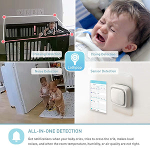 Baby Monitor with True Crying Detection (Turquoise) - Smart WiFi Baby Camera
