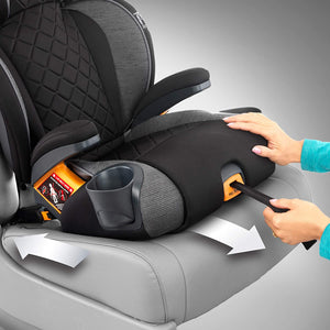 KidFit Zip Plus 2-in-1 Belt Positioning Booster Car Seat - Seascape, Blue