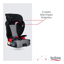 Load image into Gallery viewer, Midpoint Belt-Positioning Booster Seat - 2 Layer Impact Protection - 40 to 120 Pounds - DualComfort Moisture Wicking Fabric, Gray