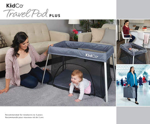 TR3011 TravelPod Plus Portable Playyard Gray