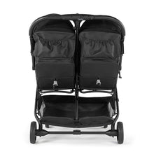 Load image into Gallery viewer, 3Dpac CS+ Double Stroller, Black – Car Seat Compatible Baby Stroller – Lightweight Stroller with Convenient One-Hand Fold, Reclining Seats, Two Extra-Large Canopies & Parent Friendly Features
