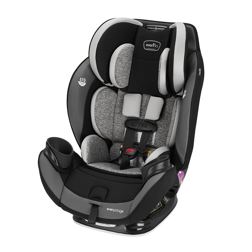 EveryStage DLX All-in-One Car Seat, Kids' Rear-Facing Seat, Convertible & Booster Seat, Grows with Child Up to 120 lbs, Angled for Comfort & Safety, 3-Times-Tighter Installation, Canyons Gray