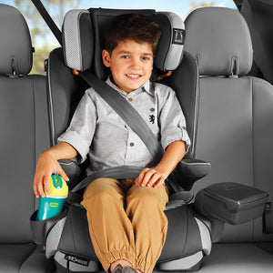 MyFit Zip Air 2-in-1 Harness + Booster Car Seat for Toddlers and Big Kids, 5-Point Harness, Belt-Positioning Booster, Zip-and-Wash Fabrics, 3D AirMesh for Breathability, Q Collection