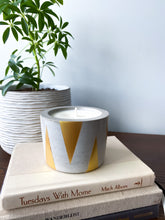 Load image into Gallery viewer, Golden Triangle Concrete Candle