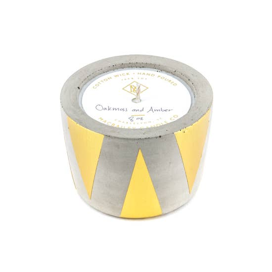 Golden Triangle Concrete Candle