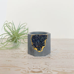 Black Tourmaline Mini Planter