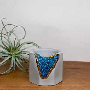 Blue Apatite Mini Planter