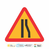 Reflective Right Traffic Lane Cautionary Warning Sign Board