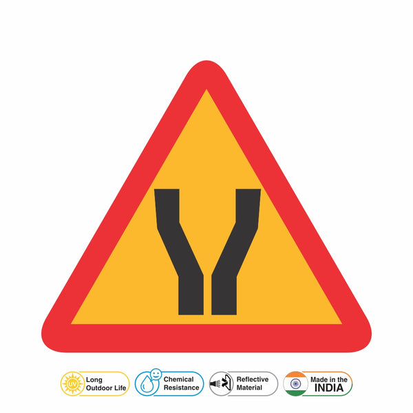 Reflective Dual Carriageway Cautionary Warning Sign Board