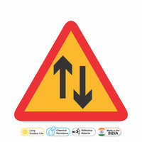 Reflective Two Way Operation Cautionary Warning Sign Board