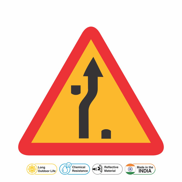 Reflective Traffic Diversion On other Carriageway Cautionary Warning Sign Board