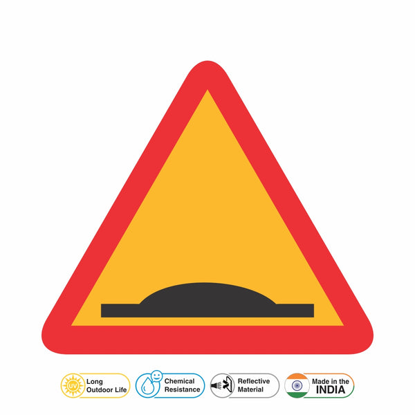 Reflective Speed Breaker Traffic Cautionary Warning Sign Board