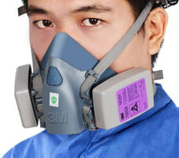 3M Medium Half Facepiece Reusable Respirator 7502, Respiratory Protection, Medium + 7093 P100 cartridges
