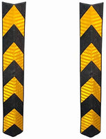 Corner Guard, Yellow & Black with Yellow Reflective (80cm x 10cm)
