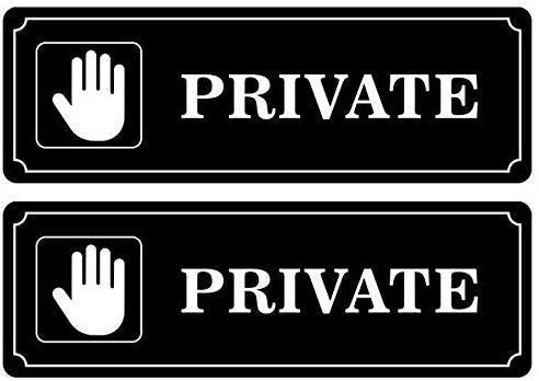 "Private Entry Restricted Sign Aluminum Sign - Easy to Mount Weather Resistant Long Lasting Ink Size (9"" x 3"")"