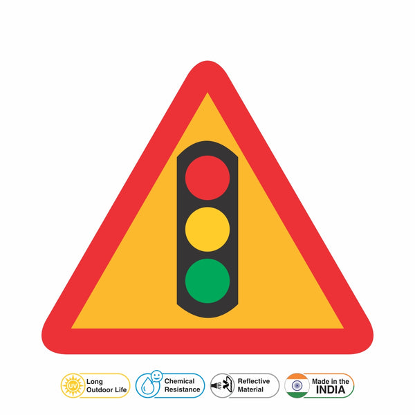 Reflective Traffic Signals Cautionary Warning Sign Board