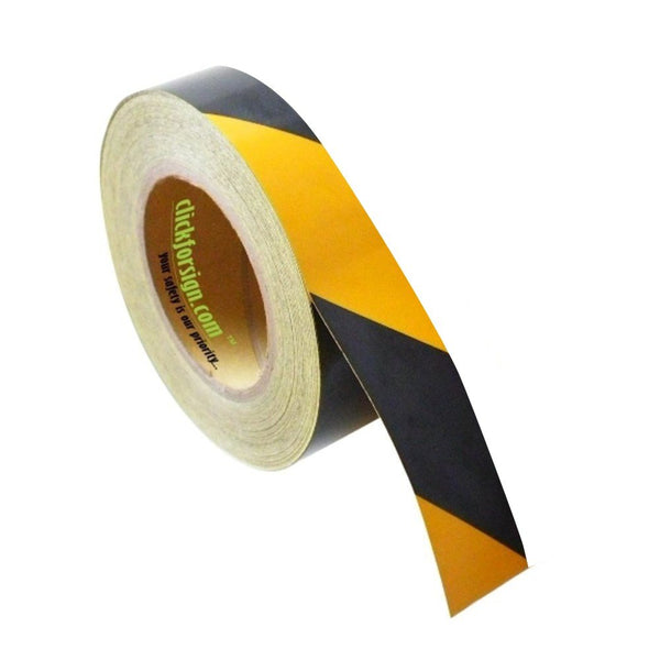 clickforsign Yellow/Black Hazard Safety Reflective Tape 1 inch 50 ft