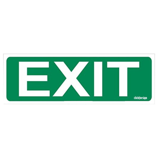 Glow in Dark Fire Exit Signboard, 300 x 100 mm