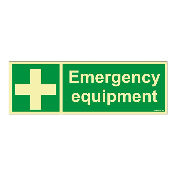 Glow In The Dark Emergency Equipment Safety Sign Board For Walls and door