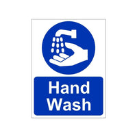 Hand Wash Sign Board for Walls and Doors, 200 x 150 mm