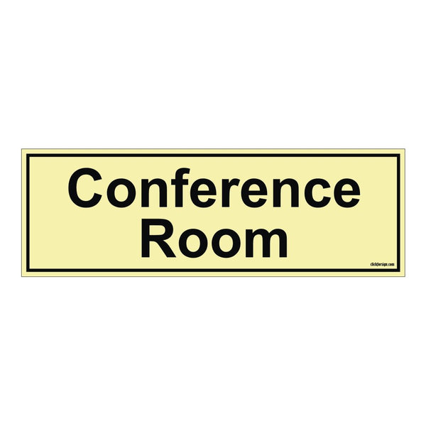Glow in the dark Conference Room Sign Board for walls and doors