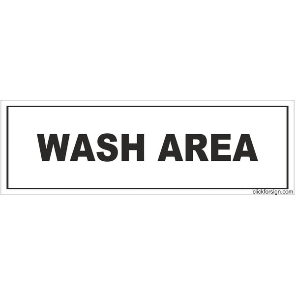 Wash Area Sign Board