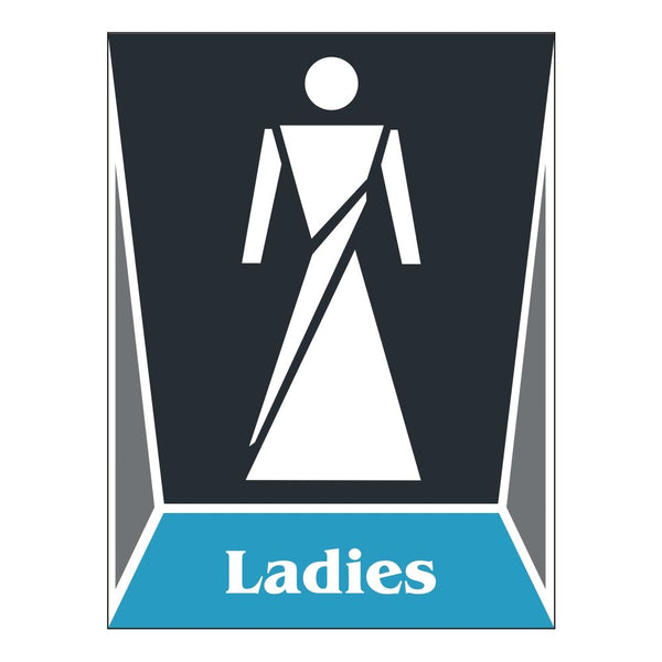 Washroom Toilet Ladies Sign Board for Walls and Doors