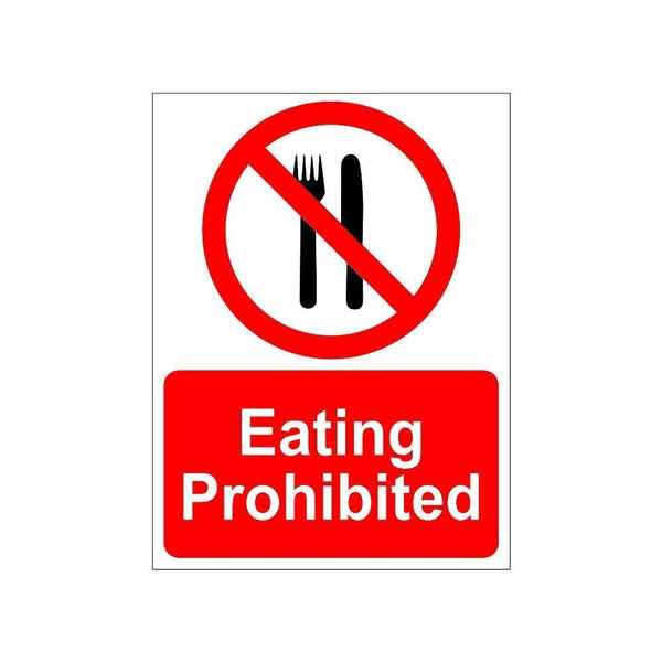 Eating Prohibited Sign Board