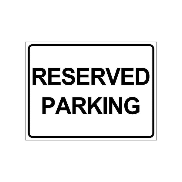 clickforsign reserved Parking sign board for walls and doors(300 x 225 mm)