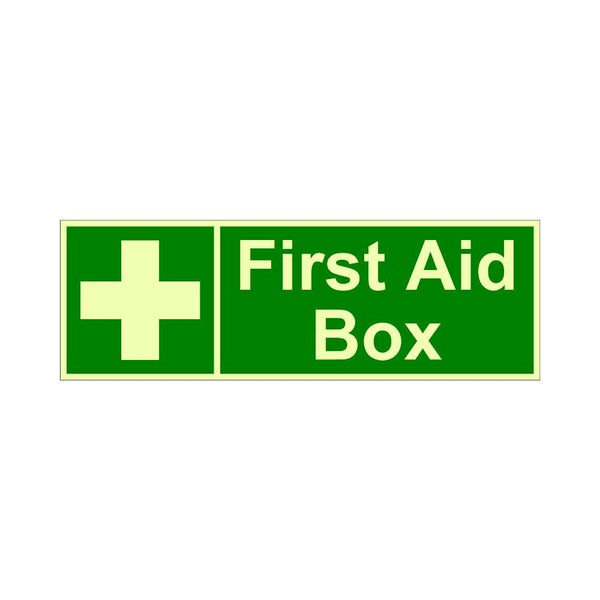 Glow In the Dark Emergency First Aid signboard Pack of 2