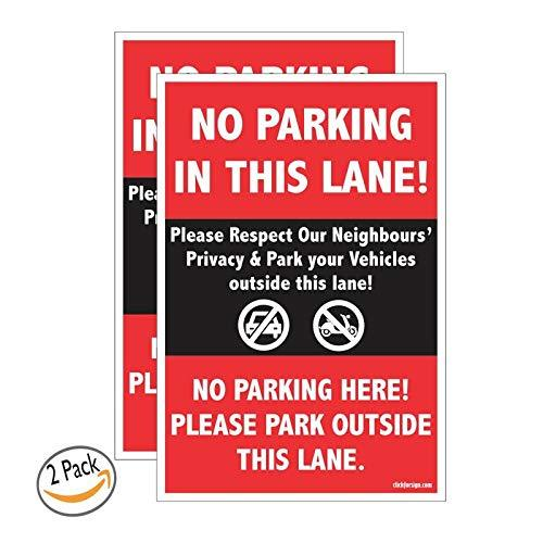 No Parking In This Lane High Intensity Prismatic Grade (Reflective)