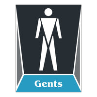 Washroom Toilet GENTS Sign Board For Walls And Doors