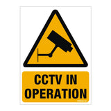 CCTV in Operation Sign for Walls and Doors