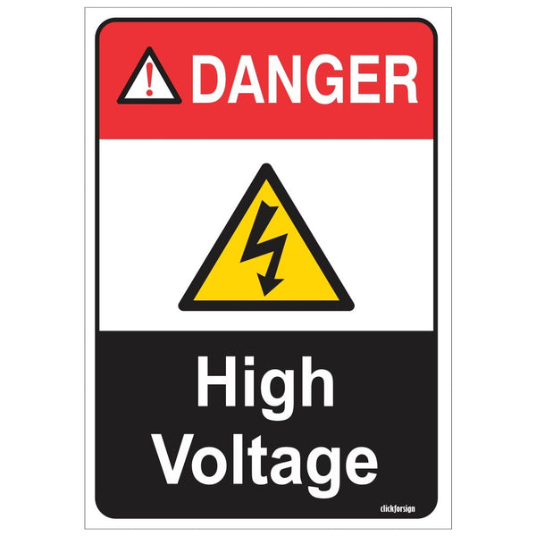 DANGER: High Voltage Sign Board