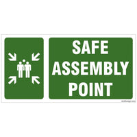 Glow in Dark Safe Assembly Point Sign Board