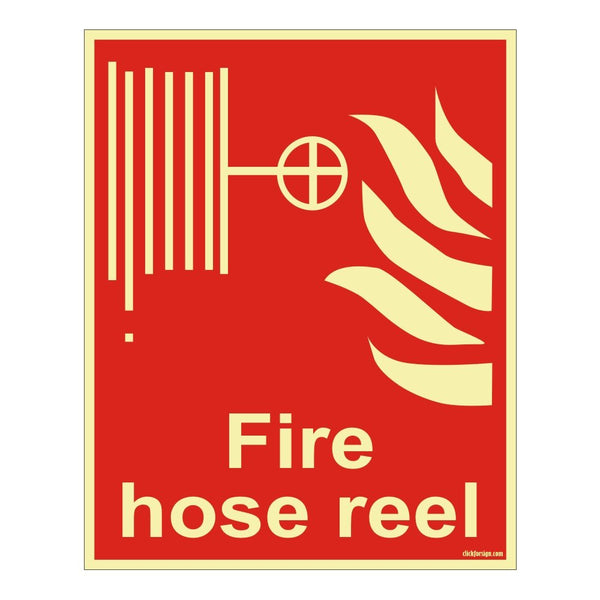 Glow In The Dark Fire Hose Reel Fire Equipment Self Adhesive Vinyl