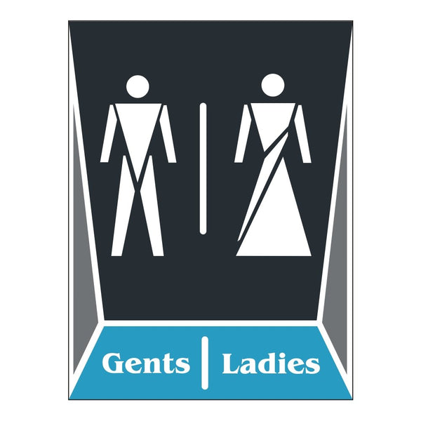 Toilet Ladies and Gents Washroom Sign Board for Walls and doors