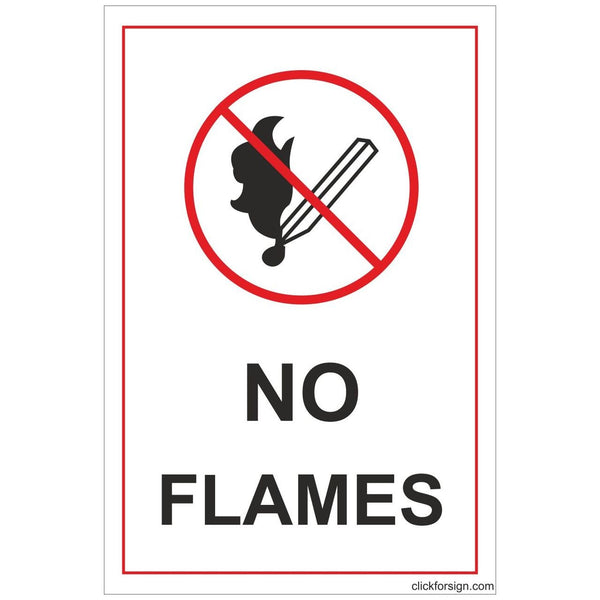 No Flames Sign Board For walls and Doors