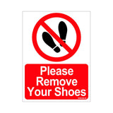 Please Remove Your Shoes Sign Board