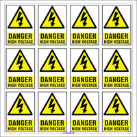 Danger High Voltage Sign Sticker for walls and doors