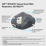 3M 9004GV Anti Pollution Mask