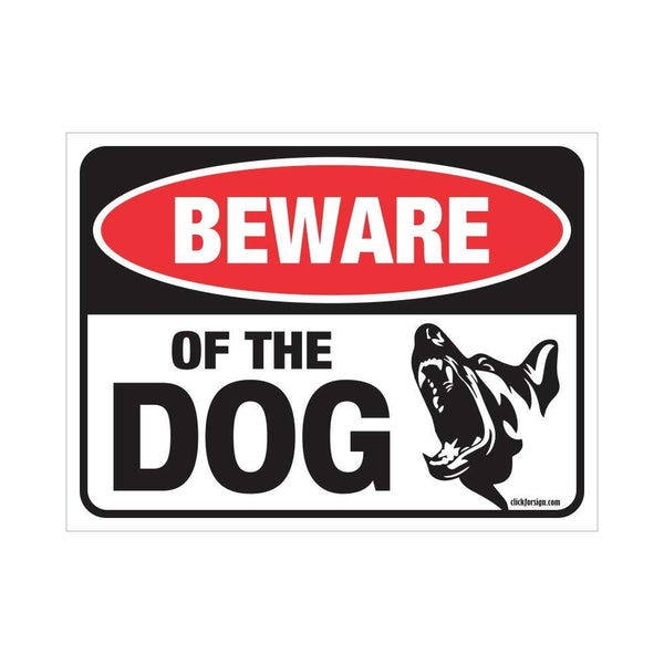 Beware of Dog Sign Board for Walls, Doors and Gates (Reflective)