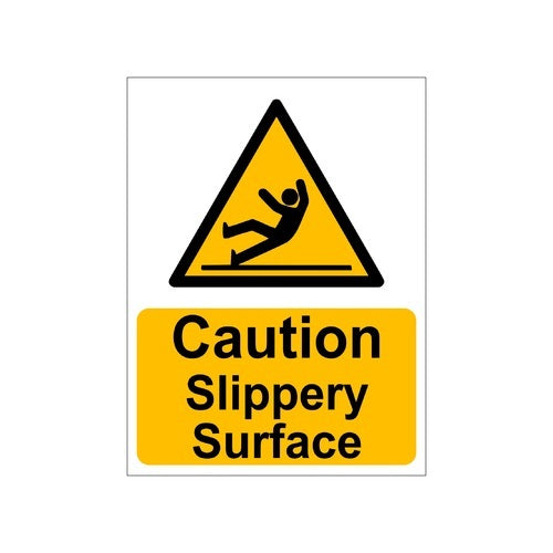 Caution Slippery Surface Sign Board